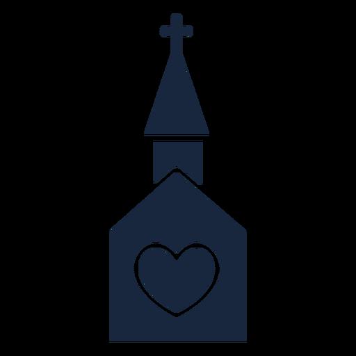 Icono de boda iglesia azul Transparent PNG