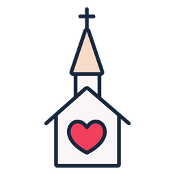 Wedding church stroke icon