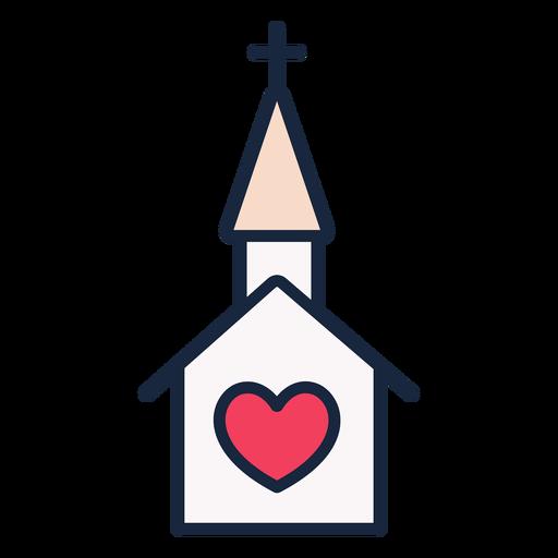 Wedding church stroke icon Transparent PNG