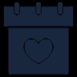 Icono de fecha de boda azul