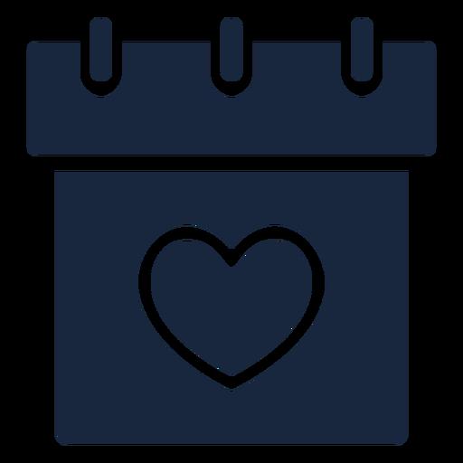 Wedding date blue icon