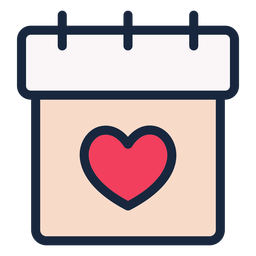 Wedding date stroke icon