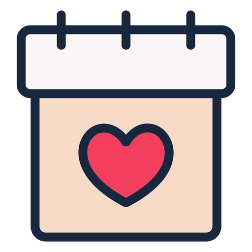 Wedding date stroke icon Transparent PNG