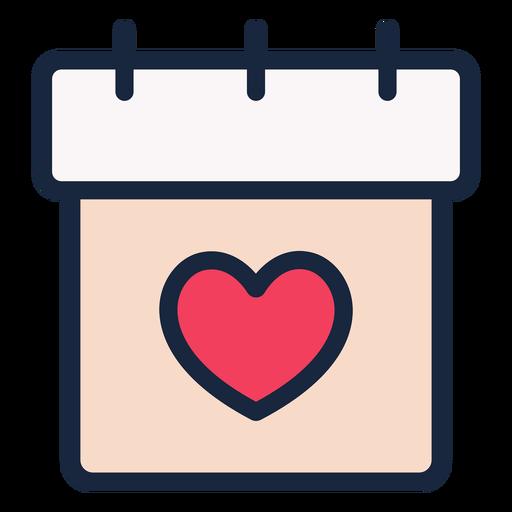 Wedding date stroke icon