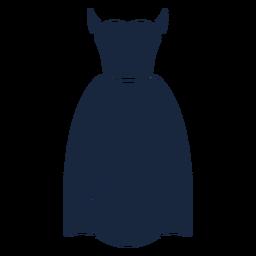 Icono de vestido de novia azul
