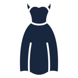 Wedding dress blue icon