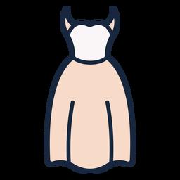 Icono de trazo de vestido de novia