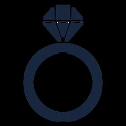 Icono de anillo azul de boda