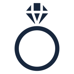 Wedding ring blue icon