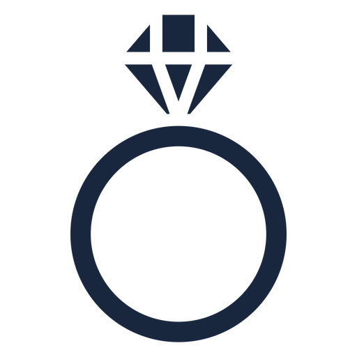 Wedding ring blue icon Transparent PNG