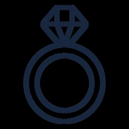Wedding ring stroke Transparent PNG