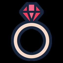 Icono de trazo de anillo de bodas