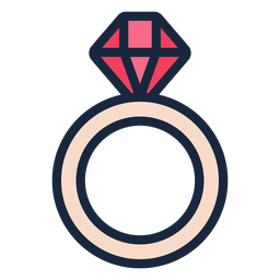 Wedding ring stroke icon
