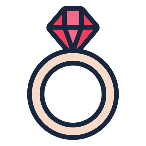 Wedding ring stroke icon Transparent PNG