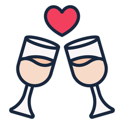 Wedding toast stroke icon