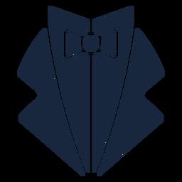 Wedding vest blue icon