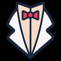 Wedding vest stroke icon