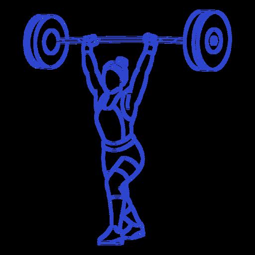 Golpe de levantador de pesas