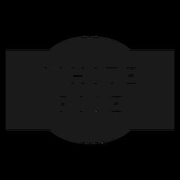 Etikett mit weißem Reis