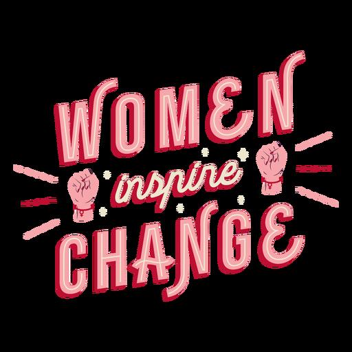 Mulheres inspiram mudança de letras Transparent PNG