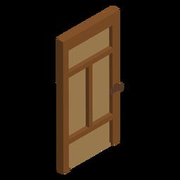 Wooden door isometric