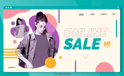 Plantilla de página de destino de venta en línea