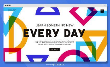 Aprende algo nuevo en la página de destino