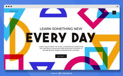 Learn something new landing page