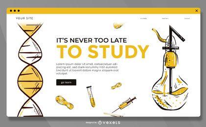 Estude modelo de página de destino online