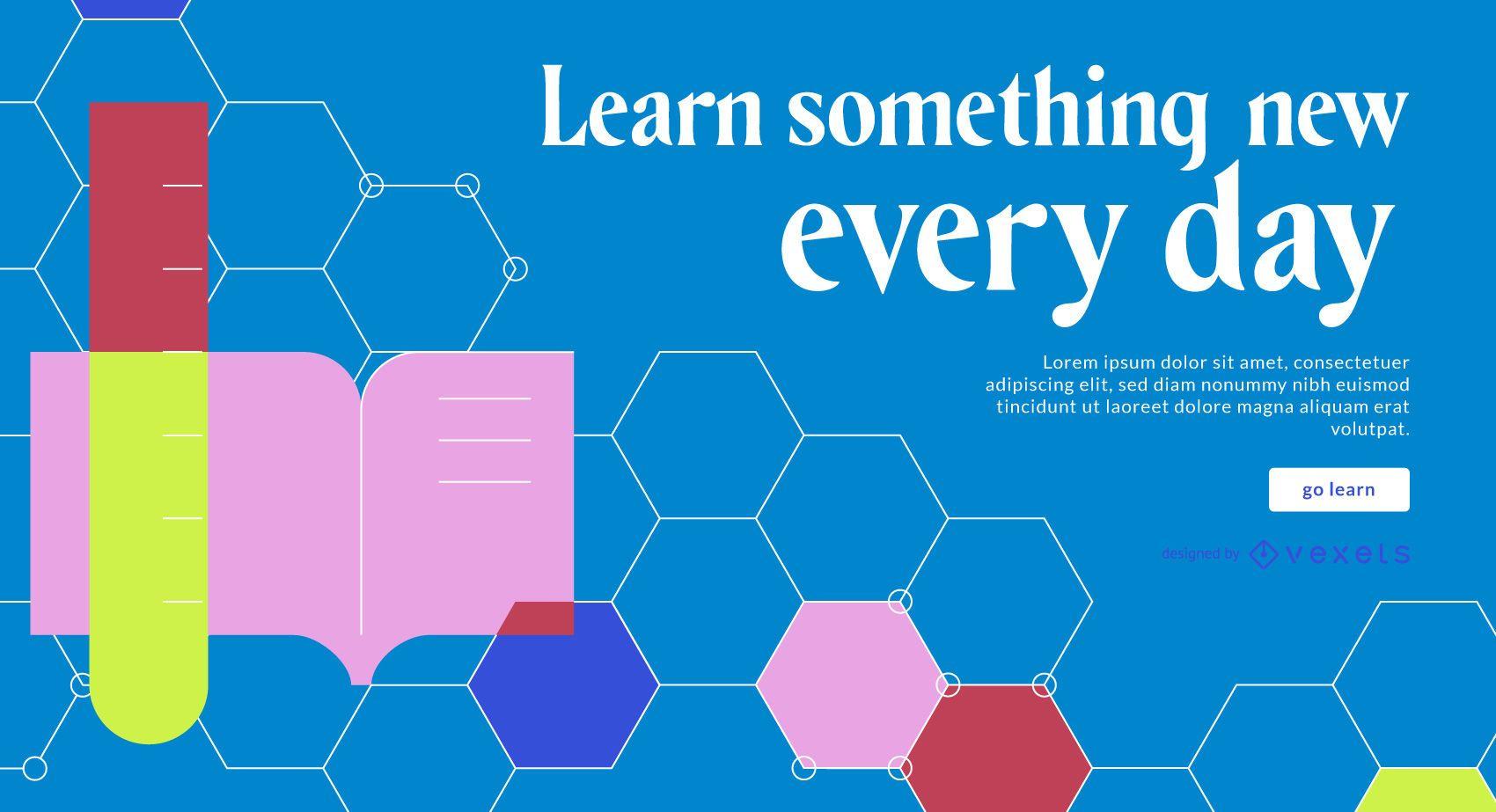 Plantilla de control deslizante de aprender todos los días