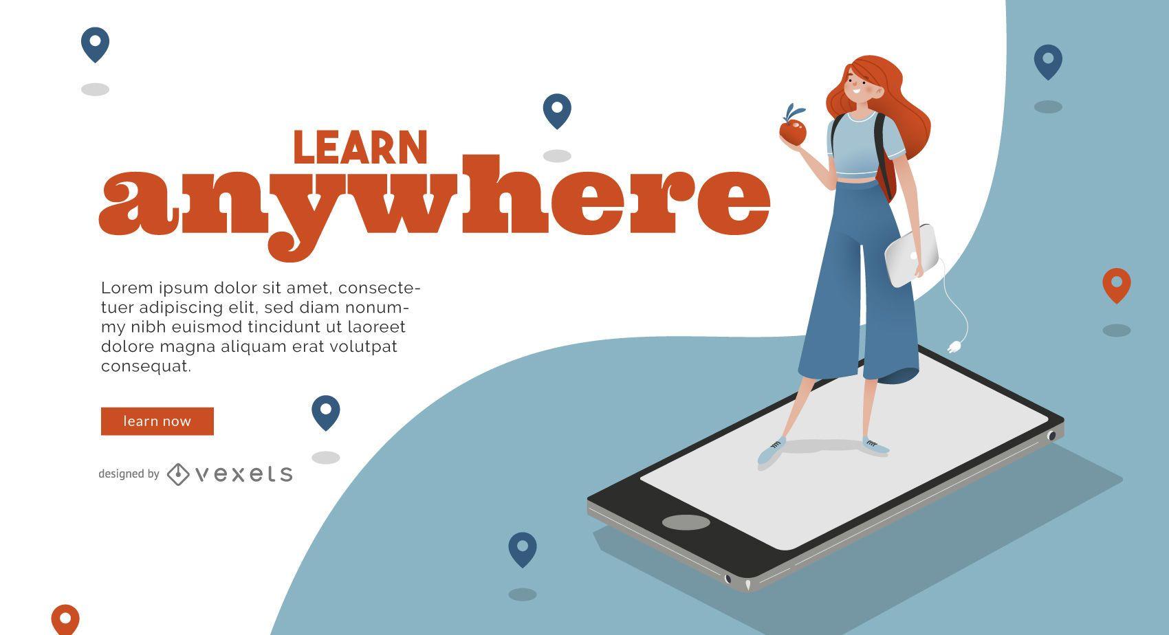 Learn online slider template