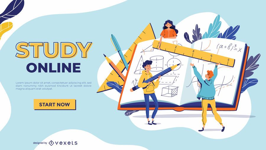 Study online slider template