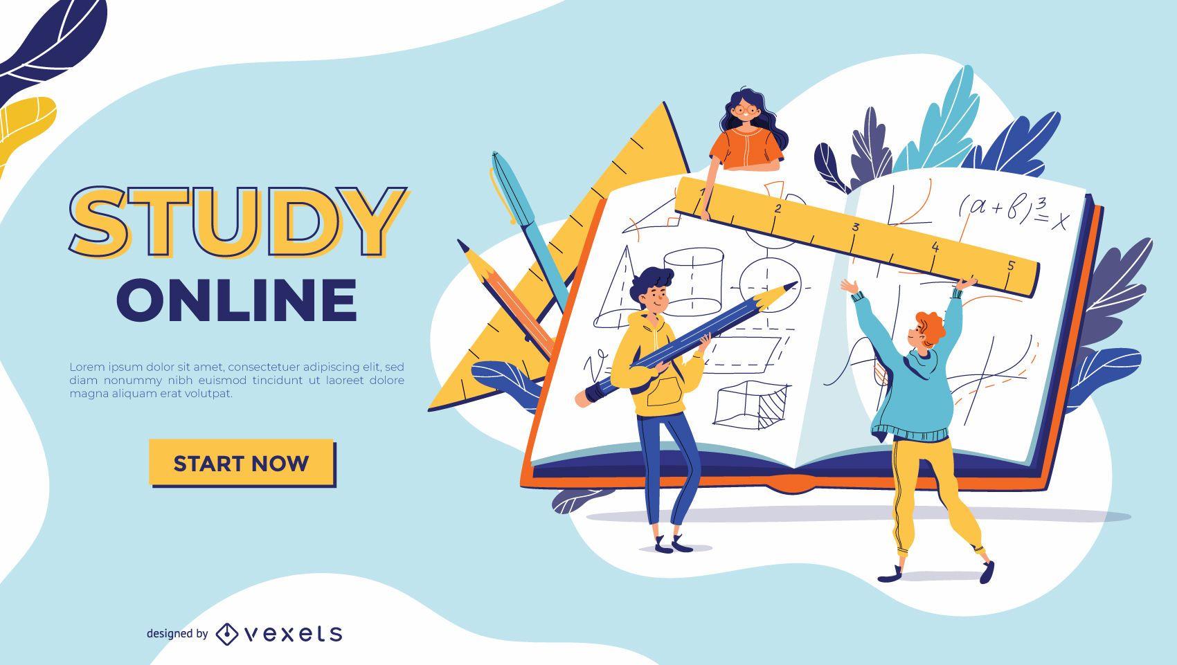 Studieren Sie die Online-Slider-Vorlage