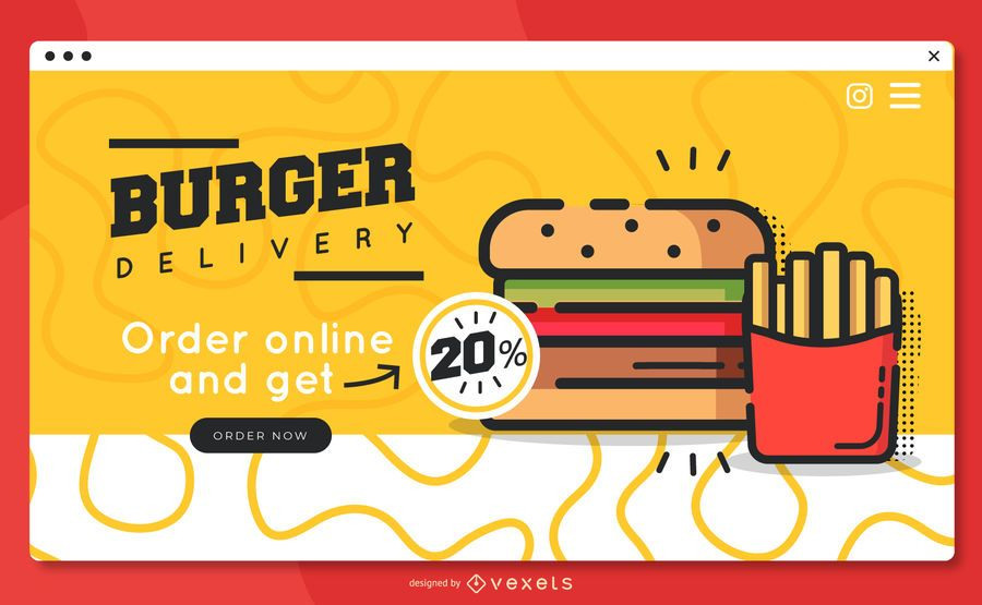 Burger delivery landing page template