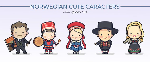 Norwegian Cute Character Design Pack