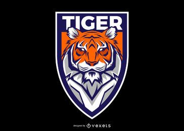 Design de logotipo Tiger Shield