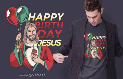 Design de camiseta de aniversário de Jesus de Natal