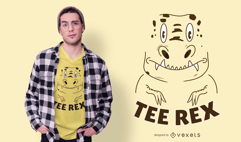Diseño de camiseta Tee Rex