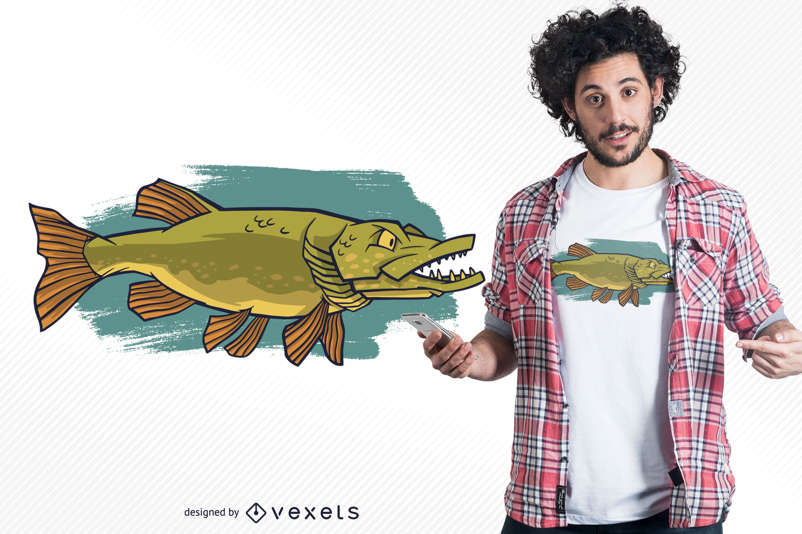 Northern Pike T-shirt Design