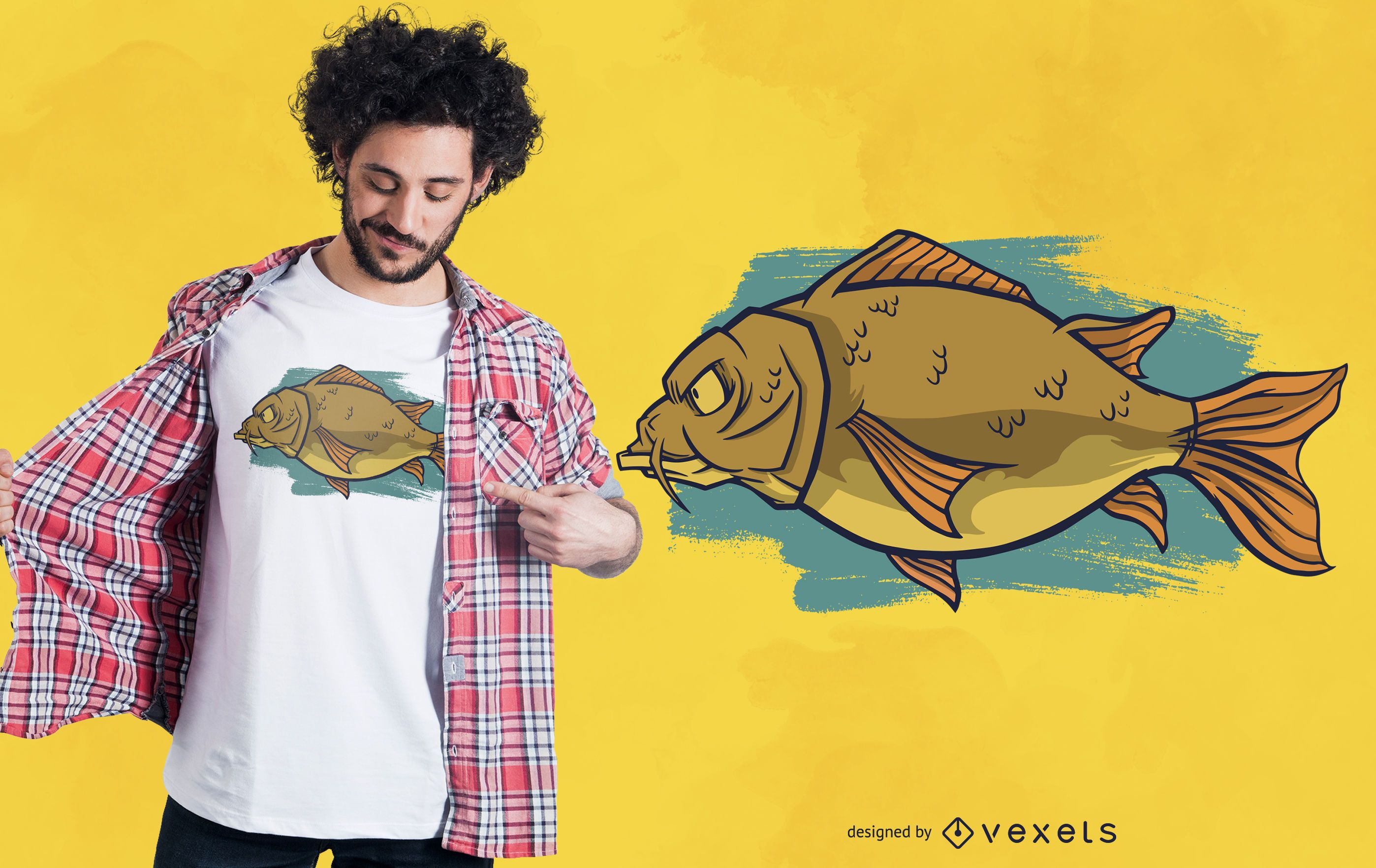 Diseño de camiseta Big Carp