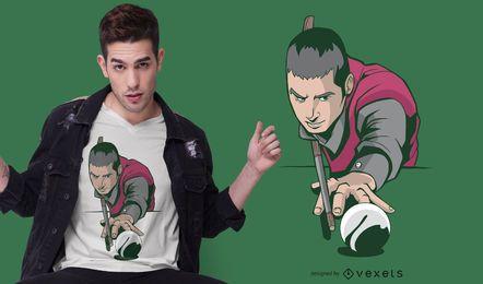 Diseño de camiseta de jugador de billar