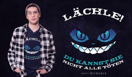 Design alemão do t-shirt das citações do gato
