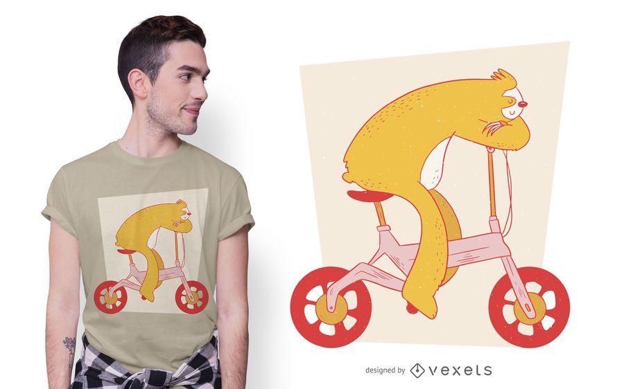 Sloth E-bike T-shirt Design