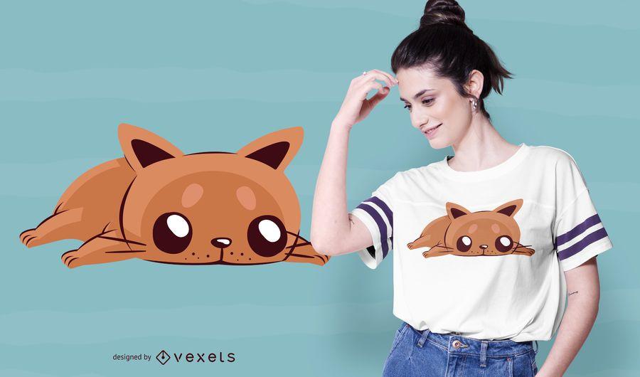 Gelangweilte Katze T-Shirt Design
