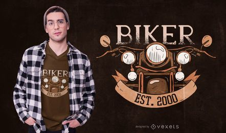 Vintage Biker Text T-shirt Design
