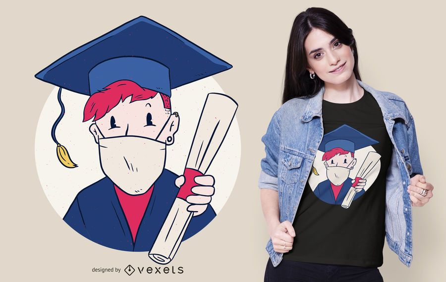 Graduate Face Mask T-shirt Design