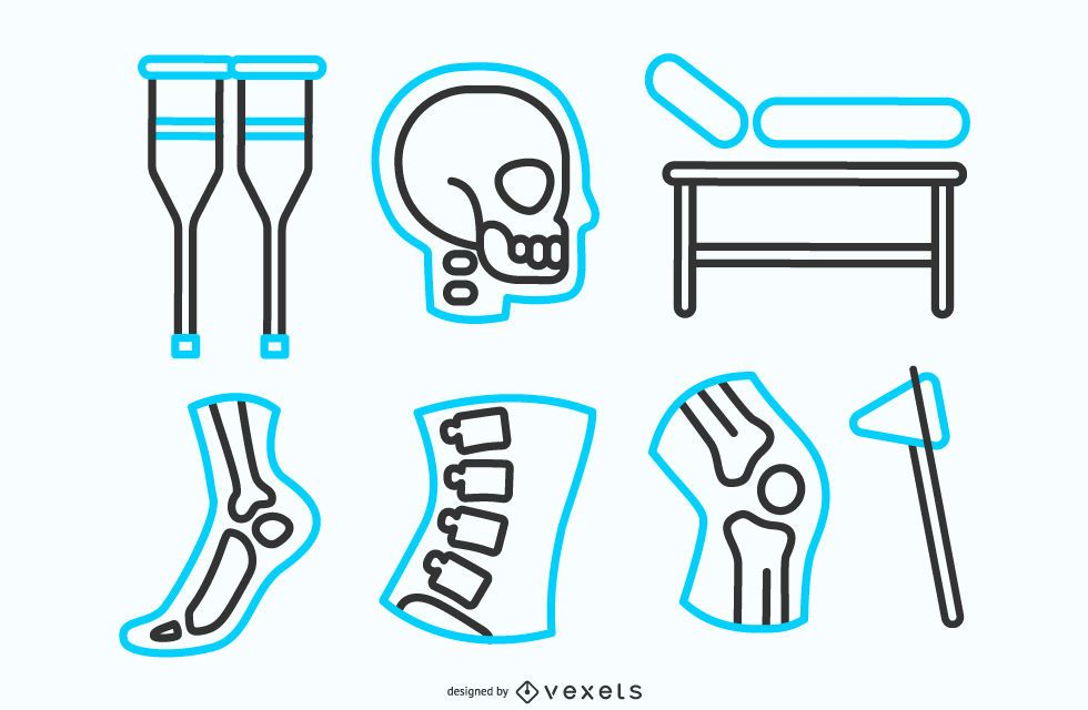 Physiotherapy Line Icon Pack
