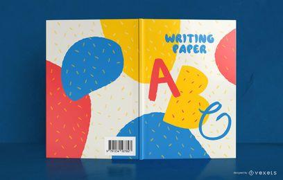 Design de capa de livro de crianças escrevendo