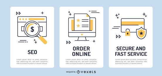 Ecommerce banner template set