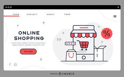 Plantilla de página de destino de compras en línea